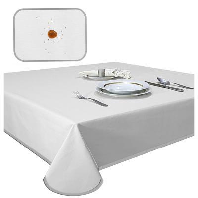 Mantel elegant gris antimancha rectagular 180x400