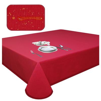 Mantel elegant rojo antimancha rectagular 180x400