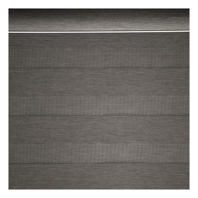 Cortina Roller Dúo Black Out gris oscuro 85x235 cm