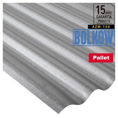 Pack 150 unid. Plancha Acanalada Onda zinc gris 0.35x851x3000 mm