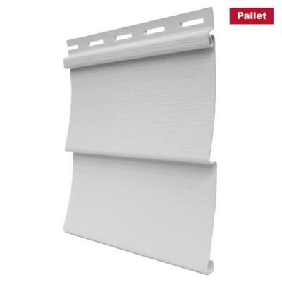 Pack 24 unid. Revest. Vynil siding exterior PVC Blanco 0.20 x3.80 m