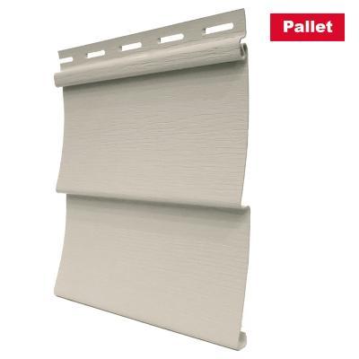 Pack 24 unid. Revest. Vynil siding exterior PVC Beige 0.20 x3.80 m