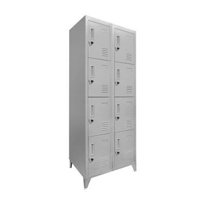 Lockers 8 puertas cuadruple 166x83x45 cm acero