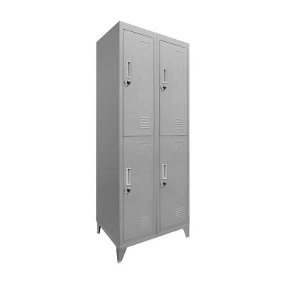 Lockers 4 puertas dobles 166x83x45 cm acero