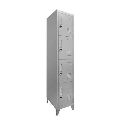 Lockers 4 Puertas 166x29x45 cm acero