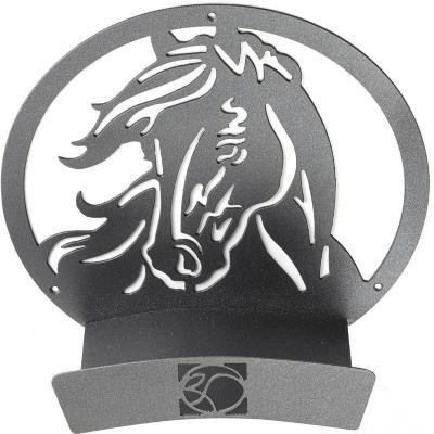 Colgador de manguera acero caballo 33x33x15 cm gris
