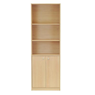 Librero 6 Niveles con Puerta Carvalo 60x30x180 cm