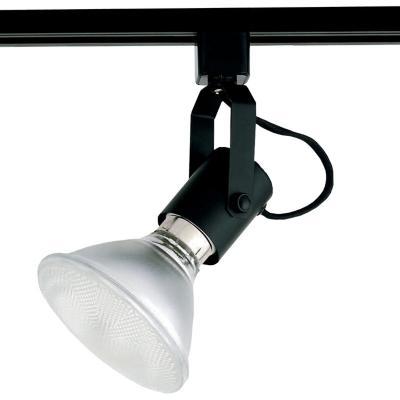 Lámpara riel negro 1 luz E27