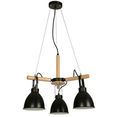 Lámpara techo negro 3 luces E27