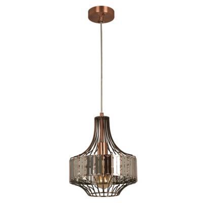 Lámpara techo cobre 1 luz E27