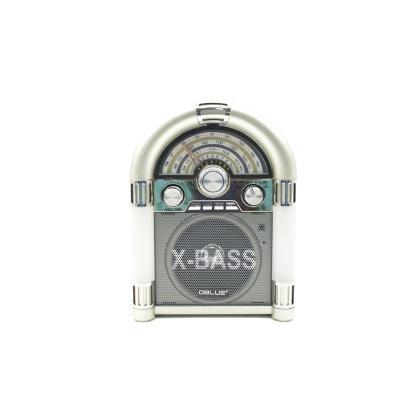 Radio Rockola FM de 3 Bandas USB/SD/TF Blanco