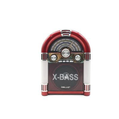 Radio Rockola FM de 3 Bandas USB/SD/TF Rojo