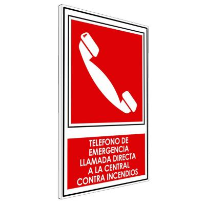 Señalética Teléfono De Emergencia