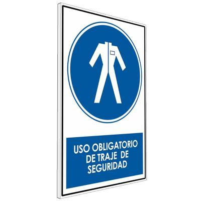 Señalética uso Obligatorio de traje de seguridad