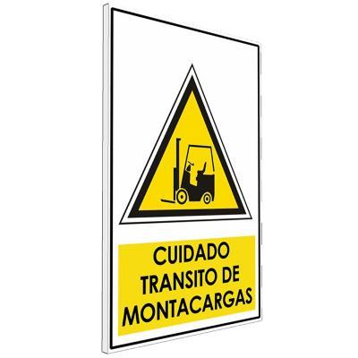 Señalética  Cuidado tránsito de montacargas