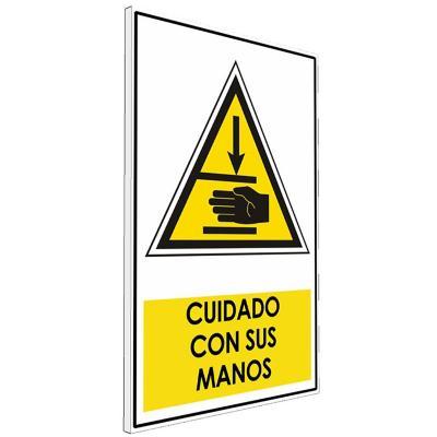 Señalética  Cuidado con sus manos