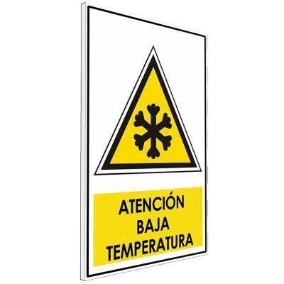 Señalética  Atención baja temperatura