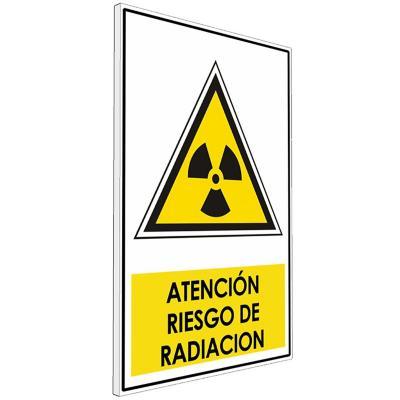 Señalética  Atención Riesgo de radiación