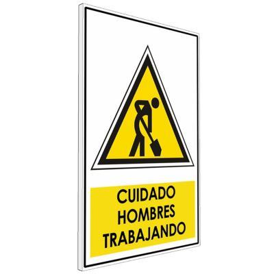 Señalética  Cuidado hombres trabajando