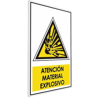 Señalética  Atención material explosivo