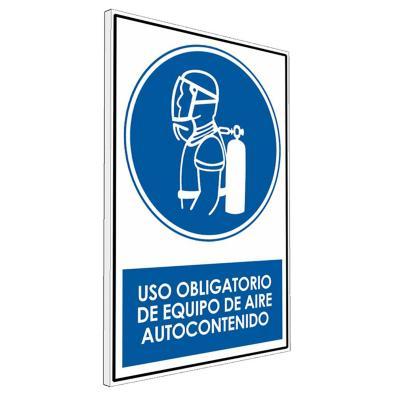 Señalética uso Obligatorio de equipo de aire
