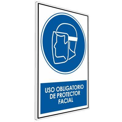 Señalética uso Obligatorio de Protección facial
