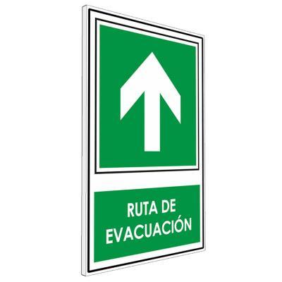 Señalética Ruta de evacuación arriba