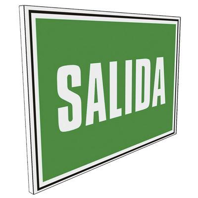 Señalética Salida