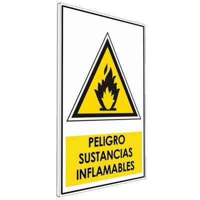 Señalética  Peligro sustancias inflamables