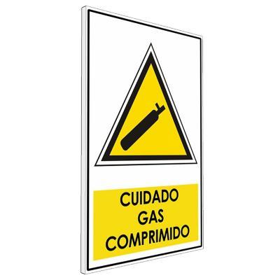 Señalética  Cuidado gas comprimido