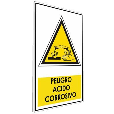 Señalética  Peligro acido corrosivo