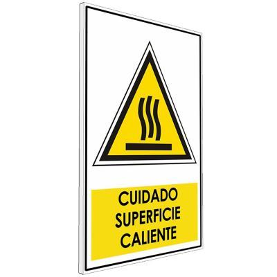 Señalética  Cuidado superficie caliente
