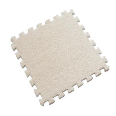 Set 6 alfombra rompecabeza shaggy Beige