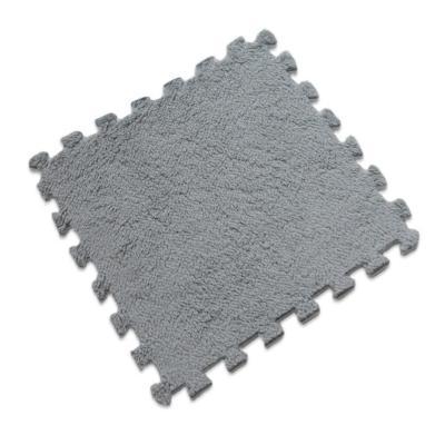 Set 20 alfombra rompecabeza shaggy gris