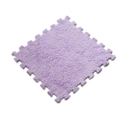Set 20 alfombra rompecabeza shaggy lila
