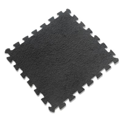 Set 12 alfombra rompecabeza shaggy negro