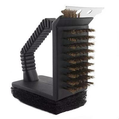 Cepillo parrillero de acero para limpiar parrillas
