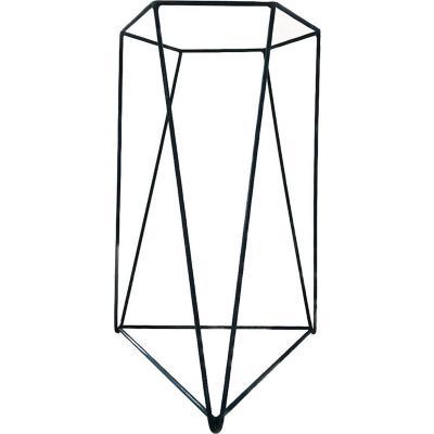 Porta macetero acero 30x30x45 cm negro