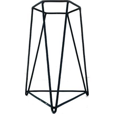 Porta macetero acero 21x21x30 cm negro