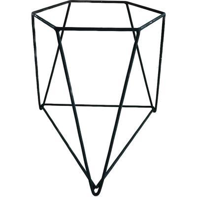 Porta macetero acero 30x30x30 cm negro