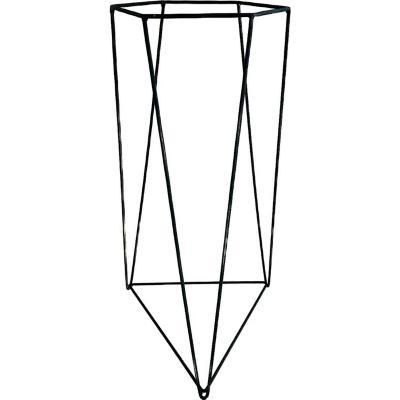 Porta macetero acero 30x30x60 cm negro