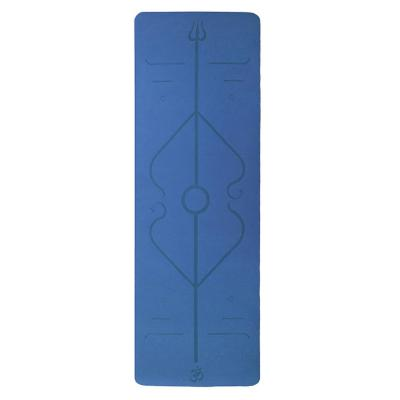 Mat de yoga color celeste 180x60 cm