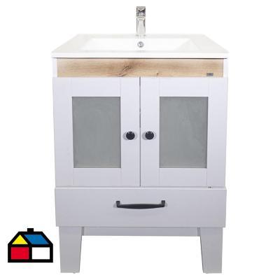 Mueble vanitorio 71x46,5x84 cm blanco