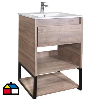 Mueble vanitorio 62x46,5x87 cm miel