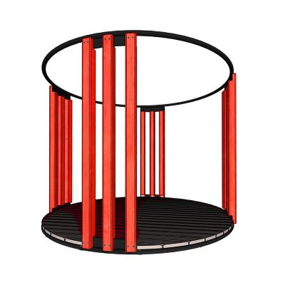 Pérgola multifuncional acero 240x290 cm rojo
