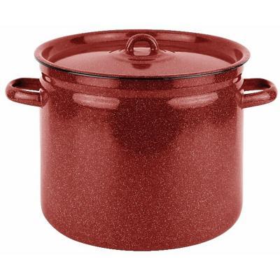 Olla alta 24 cm 8 l acero carbonico rojo