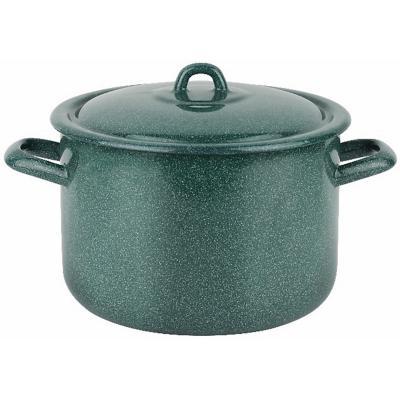 Olla 24 cm 5,5 l acero carbonico verde