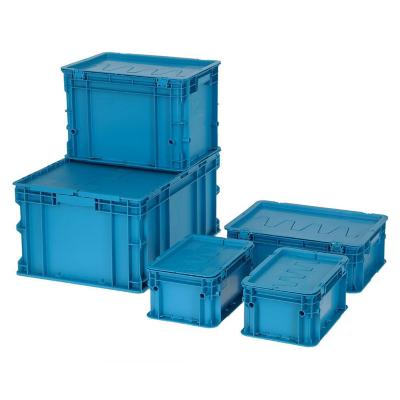 Set de 5 cajas modulares 100 lts 60x40x60 cm azul