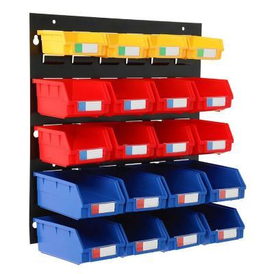 Organizador de pared 20 cajas plásticas 46x48 cm