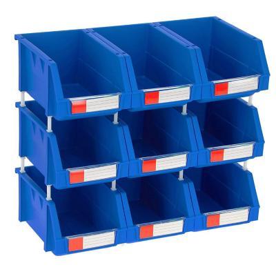 Set de 9 cajas organizadoras 4.5 lts 15x24x12.4 cm